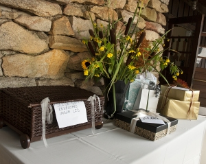 Gift Table Outside Camp Dining Hall